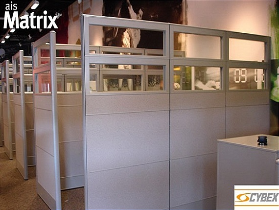 The Rigidity And Strength Of The Matrix Panel Allowed Cybex To Maintain A  Consistent Design From Working Stations To Dividing Walls.